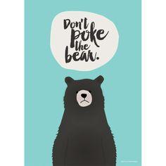 Dont poke the bear - aqua