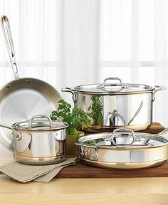 All-Clad Copper-Core 7 Piece Cookware Set - Cookware - Kitchen - Macy's