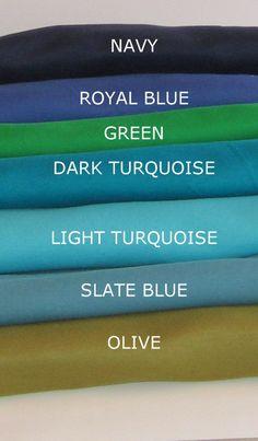 Boppy Cover, Crib Sheet, Bassinet Sheet, Changing Pad Cover, Baby Bandanna Bib, Nursery Door Silencer, Blue, Tshirt Knit, Custom Made