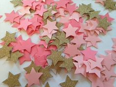 Twinkle Little Star, Pink Gold Glitter Confetti, Baby Shower Confetti, Wedding Confetti, Bridal Shower, First Birthday Decor, Table Scatter - pinned by pin4etsy.com Glitter Confetti, Wedding Confetti, Gold Glitter, Confetti Ideas, Glitter Wedding, Twinkle Star Party, Twinkle Twinkle Little Star, Gold Birthday, 1st Birthday Girls