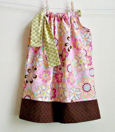 size 3t designer cotton flower power pillowcase dress | krazykidlets - Clothing on ArtFire