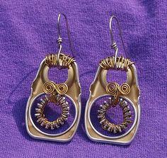 pull tab earrings