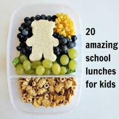 20 Amazing School Lunches for Kids.  GREAT IDEAS!