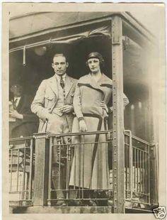Rudolph Valentino, Wife Mineralava Dance Tour 1923