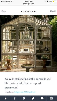 My future #sheshed greenhouse glass nature with no nature
