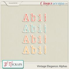 Vintage Elegance: Alphas by B2N2 Scraps