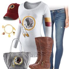 87512d576 Washington Redskins Outfit Redskins Football, Redskins Fans, Jets Football,  Vikings Football, Raiders