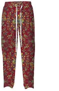 Oriental Floral Print Pajama Pant