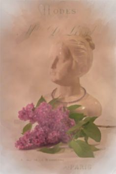 My French Lilac Girl - Digital Watercolor by Sandra Foster ©.  Can be purchased as a card, framed print etc on my Red Bubble Portfolio!