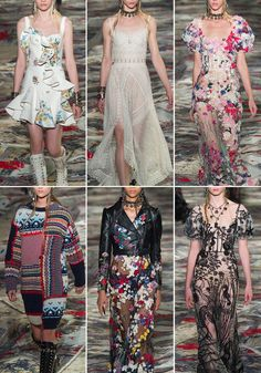 The Patternbank team are loving the new SS17 Ready to Wear collection from Alexander McQueen in our final print highlight for Paris Fashion Week. The Shetland Isles in Scotland was the source of inspiration for dresses adorned in wild flowers and traditional lace from the crofters and Fair Isle patterns which made up cosy jumpers and delicate dresses.