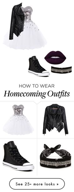 """Untitled #207"" by hayden-hayden on Polyvore featuring Converse, Lime Crime and Fallon"