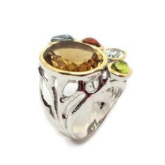 Unikat, Ring mit Citrin Rings For Men, Jewellery, Silver, Ring, Schmuck, Men Rings, Jewels, Jewelry Shop, Jewlery