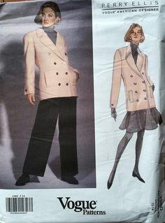 Vogue Patterns, American Designer: Perry Ellis, 2980, Size 12-14. L. Lam Books