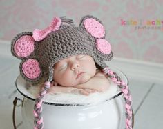 Popular items for elephant beanie on Etsy