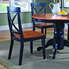 The Home Styles Black & Cottage Oak Dining Chair – Set of 2 is a sophisticated pair that's comfortable and offers a forward-thinking sense. Cheap Dining Room Sets, Cheap Dining Room Chairs, Cheap Chairs, Accent Chairs For Living Room, Kitchen Chairs, Chairs For Sale, Dining Chair Set, Dining Room Furniture, Dining Room Table