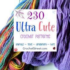 230 Ultra Cute #crochet pattern Gift Ideas - Roundup of Roundups on CrochetStreet.com