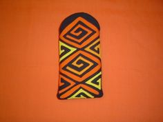 """Price $14.95 This item can be order by quantity  and each one will be unique, e-mail me: RitaSmith@Clearwire.net This lovely mola eyeglass case or cell phone holder is also made by the Kuna Indians Mola Maker on the San Island Kuna Yala, Panama.  This exquisite piece is authentic and genuine.  Nice, styled for your today's eyewear, soft, quilted cotton, safeguard lenses from scratches and dust. Size 4"""" width x 8"""" lenght Beautiful Bird Mola Eyeglass Case in vibrant colors, Fabric..."""