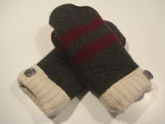 Gladstone Wool Mittens  med/lg  MMC442 by MichMittensbyLauri, $23.00