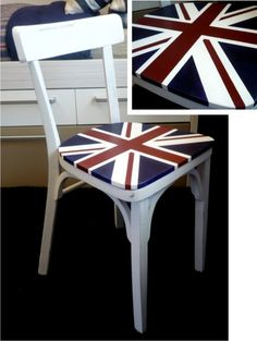Silla british / British chair - great way to refinish and group together random and found chairs