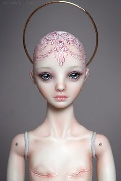 "Enchanted Doll ""Surviving"" I absolutely love this doll ♥ How inspiring and what a great message of strength."