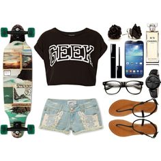 """Beach Geek"" by livelife2risks on Polyvore"