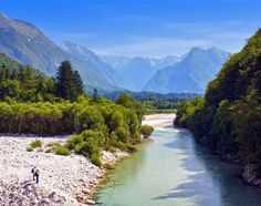 Beautiful river Soca, Bovec, Slovenia | TOP 10 Places To Travel in August