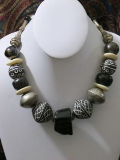 Old African Trade Beads Large Necklace