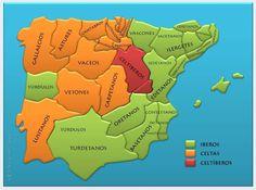 2 Iberian Peninsula, Cadiz, Prehistory, Historical Maps, Social Science, Romans, Archaeology, Celtic, Spanish
