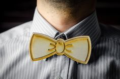 Wooden bow tie - laser engraved - for men - gentleman style accesories - hipster - vintage party - Father's day gift - MA001