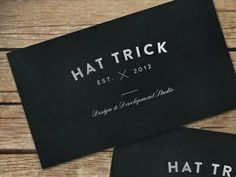 HAT TRICK Business Cards
