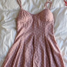 American Eagle Pink Polka Dot Dress