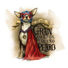 Lucha Libre Chihuahua Impressão artística