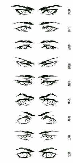 58 Ideas eye anatomy sketches for 2019 Eye Drawing Tutorials, Sketches Tutorial, Drawing Tips, Eye Tutorial, Male Drawing, Drawing Ideas, Drawing Art, Boy Hair Drawing, Cute Boy Drawing