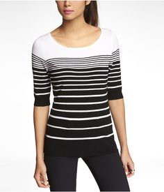 ENGINEERED STRIPE BATEAU NECK PULLOVER | Express - I'm not sure I'll ever tire of graduated stripes <3