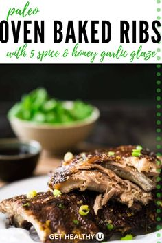 Check out this Paleo Oven Baked Ribs with 5 Spice and Garlic Glaze ...