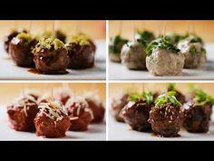 Party Meatballs 4 Ways - YouTube