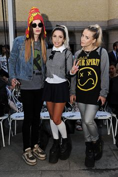 Rebecca & Fiona with their creative director Tommie X @ Stockholm Fashion Week 2013