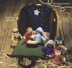 Nativity Crochet Pattern - Stable, Creche -