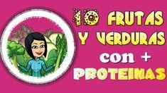 10 Frutas y Verduras con mas Proteínas ⭐⭐⭐⭐⭐