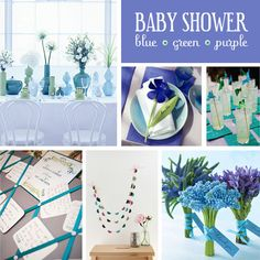 Baby blue baby shower
