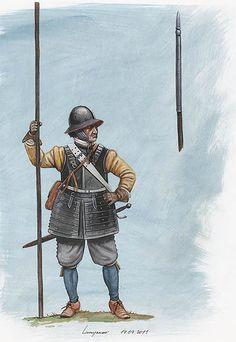 1618-1648 Pikeman, Dreißigjähriger Krieg, 1618 - 1648