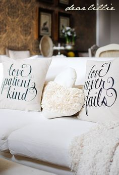 Valentine pillows...also great for everyday!  From Dear Lillie.