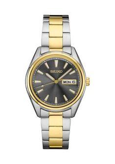 Gold And Silver Watch, Gold Watch, Seiko Men, Quartz Watch, Bracelet Watch, Essentials, Stainless Steel, Japanese, Display