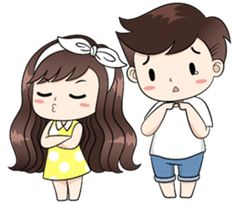 Boobib lovely couple - Stiker LINE Love Cartoon Couple, Cute Couple Comics, Chibi Couple, Cute Cartoon Pictures, Cute Pictures, Cute Drawings Of Love, Cute Couple Drawings, Cute Love Images, Cute Love Stories