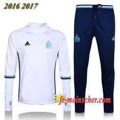 Le Nouveau:Survetement de Marseille OM Blanc 2016 2017 Soccer Shoes, Jersey  Shorts, 5f0e5a6b47ef