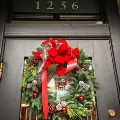 Our festive front door #cambma @cambridgelocalfirst by harvardbookstore December 13 2015 at 10:31AM