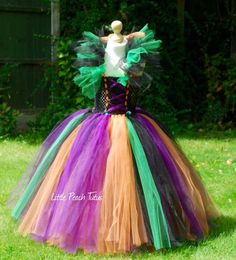 New to Etsy is the Wicked Witch Halloween Tutu, you will swish and swirl with style as your spells are cast, the full tutu skirt has three layers of typical Halloween colours on a black laced style soft crochet bodice. All of the tutu tops from 4-5 upwards are lined for modesty purposes. Lengths of the tulle skirts are as follows, but I am always happy to tweak sizes to suit your little one as everything is handmade just for you. Age 1-2 = 8 tulle length Age 2-3 = 9 Age 3-4 = 1...