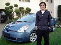 Orlando Bloom with his Toyota Prius