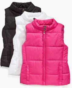 Pink Platinum Kids Vest, Little Girls Puffer Vests - Kids Girls 2-6X - Macy's $24.00 #MacysBTS