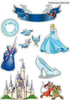 Cinderella Cartoon, Cinderella Birthday, Baby Scrapbook, Scrapbook Paper, Printable Stickers, Planner Stickers, Barbie Pop Star, Little Mermaid Cupcakes, Scrapbook Embellishments